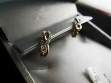 Zales Champagne and White diamond earrings