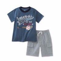 Kids Headquarters Little Boys Toddler 2 PC Cotton T Shirt & Shorts Set New