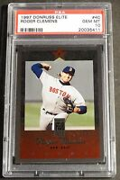 1997 ROGER CLEMENS DONRUSS ELITE #40 PSA 10  RED SOX