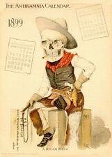 Le cow-boy, Classic ANTIKAMNIA CALENDRIER, 1899-1900, vintage Anatomy Poster