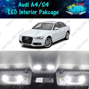 White Interior LED Lights Package Kit for 2009 - 2013 2014 2015 Audi A4 S4 B8
