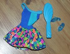Lot Barbie Dress With Matching Shoes & Brush