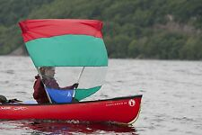 Down Wind Sail for Open Canoe - Easier than paddling!  ENDLESS RIVER