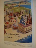 GUIDA D'ITALIA-FATTORUSSO-MERAVEILLES DE L'ITALIE-1952