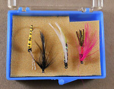 Trout Fishing Lure, Wet / Dry Flies Box Of 4, Pack Fly Hooks,  Lot # 7 As Photo