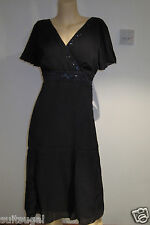 NEW NAVY BLUE SEQUIN & BEADED DRESS FROM PER UNA AT M&S SIZE 10 14