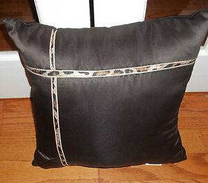 New Croscill Brown Cheetah Decoravtive Bed Pillow