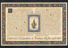 UN (NY) 1988 Human Rights/Flame/Legislation/Welfare/Peace 1v m/s (n33887)