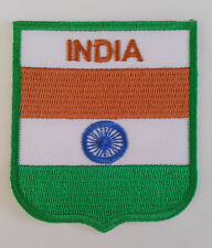India Flag Embroidered Sew/Iron On Patch Patches