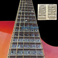Guitar Neck Fretboard Note Label Sticker Fingerboard Fret Mark Decals From US