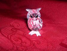figurine en cristal swarovski le hiboux
