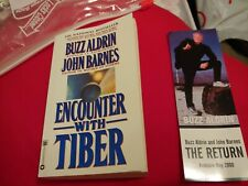 Buzz Aldrin Signed Encounter With Tiber Paperback Book Nasa And Bookmark