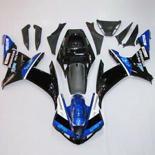 Black Blue ABS Plastic Fairing BodyWork Kit For Yamaha YZF R1 YZFR1 2002-2003 AB