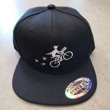 Flat Bill Snapback Hat - Black, Embroidered, New With Tags, Postmates Uniform