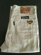 Pantalone avirex usa uomo pants man made in italy beige trouser size 31 ita 45