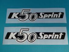 Hercules K50 Sprint Seitendeckel Sticker Schriftzug Dekor Aufkleber Bj. 1975-76