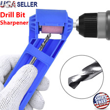 Drill Bit SHARPENER Corundum Grinding Wheel Titanium Portable Powered Tools US
