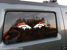 Denver Broncos White and Orange Decals, Car,Truck, Window Set of Two (2)