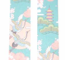 Japonesas Washi ~ 7m X 15mm ~ ~ grúas de vuelo azul rosa ~ Adorno