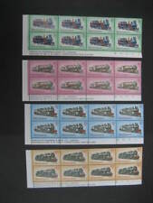 Nueva Zelanda 1973 locomotoras de vapor Set Placa bloques 1B NHM SG1003/6