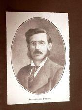 Stampa del 1923 Alessandro Parodi Collaboratore dell'Illustrazione Italiana