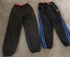 x2 BOYS LONSDALE TRACK PANTS SZ 7-8 BLACK