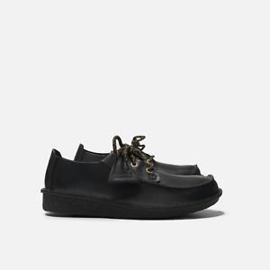 Clarks Originals Trek Veldt Men's Leather Shoes L-Stitch Black