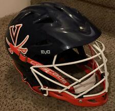 Warrior Evo Lacrosse Helmet, L/Xl, University of Virginia, Navy Blue / Orange
