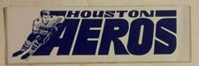 1970's Houston Aeros Team Logo Bumper Sticker / Decal WHA
