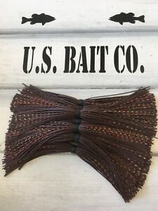 Bass Jig Skirts Living Rubber Lot Of 10 Color Brown Craw Replacement Skirts