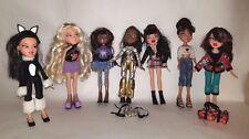 Lot of 7 Bratz Various Dolls Clothes & Shoes Accessories Costume Kitty Sportz