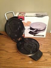 Adorable Disney MICKEY MOUSE Waffle Maker Brushed STAINLESS Steel Nonstick *NEW*