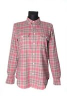 Women's RALPH LAUREN Pink 100% Cotton Windowpane Check Shirt Size 14