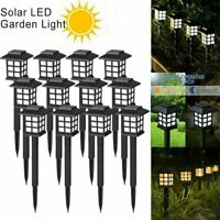8PC LED Solar Power Pathway Lights Landscape Outdoor Garden Waterproof Lawn Lamp