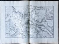 1866 - Plano De'Alesia Von Alesia - Jules César - Vercingetorix