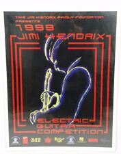 1999 Jimi Hendrix Guitar Competition Poster