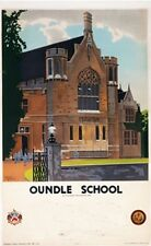 Oundle School (old rail ad.) fridge magnet    (se)