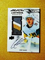 2019-20 UD BLACK CODY GLASS Lustrous Rookie Patch Autograph /25 On Card Auto