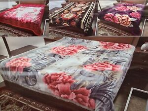 2 Ply Heavy Blanket Thick & Warm Soft Bed throw Double Sided 200 cm X 240 cm