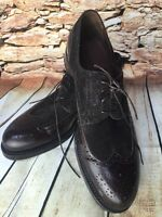 Giorgio Armani Made In Italy Men's Handmade Wingtip Lace Up Oxfords 42-1/2