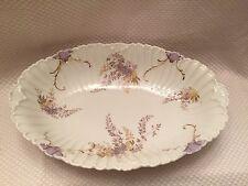 "Antique Rosenthal R&C Germany porcelain oval serving bowl scalloped fluted 12"""
