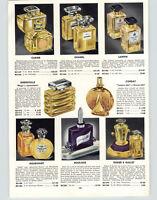 1941 PAPER AD Caron Chanel Lanvin Piege Grenoville Perfume Bottles Corday
