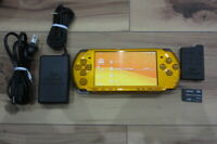 Sony PSP 3000 Console Bright Yellow w/battery pack 8GB Memory pack Japan K925