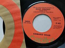 "EDWARD BEAR - Last Song / Best Friend 1972 POP ROCK AOR Classic 7"" Capitol"