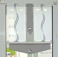Küchengardinen Set Bistro-Scheibengardine Vorhänge modern 4 Teile+2 Stangen
