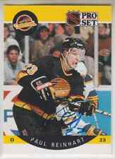 Autographed 90/91 Pro Set Paul Reinhart - Canucks