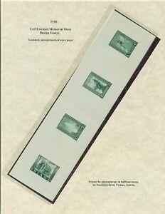 ICELAND 1938 ESSAYS for Leif Ericsson Souvenir sheet (B6) on gummed, wove paper