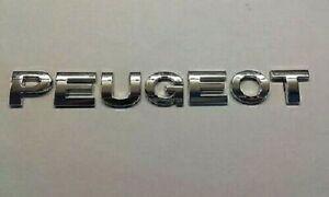 New Chrome 3D Self-adhesive Car Letters badge emblem sticker Spelling PEUGEOT