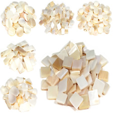 Mother of Pearl Tiles for Mosaic Art and Crafts - 50g Various Shapes