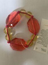 NWT Girls Gymboree aloha sunshine Pink Yellow Beaded Stretch bracelet Jewelry
